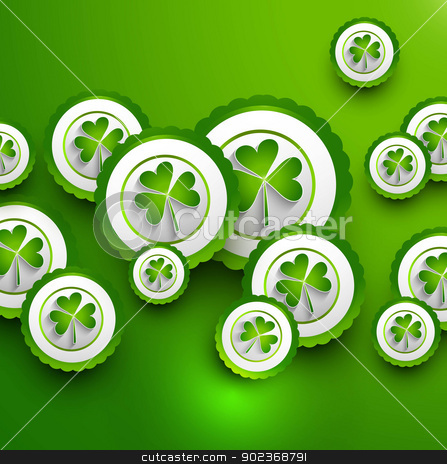 St. Patrick's Day icon green colorful presentation Vector backgr stock vector clipart, St. Patrick's Day icon green colorful presentation Vector background by bharat pandey