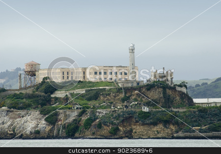 Alcatraz Island prison in San Francisco Bay stock photo, The famous Alcatraz Island prison in San Francisco Bay, which housed Al 'Scarface' Capone. by Stephen Gibson