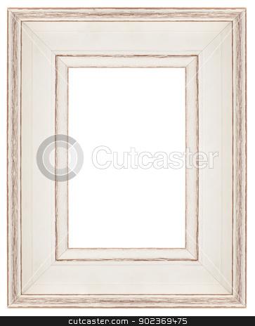 Stylish white Frame  stock photo, Stylish white Frame isolated on white background. by Homydesign