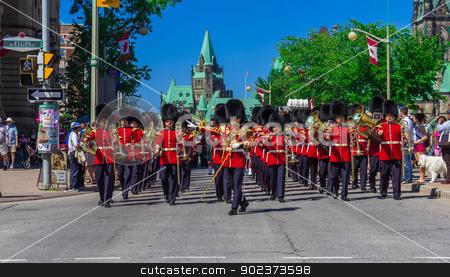 Ceremonial Guard Parade stock photo, Ceremonial Guard Parade in Ottawa on Parliament Hill, Ontario, Canada by Peter Kolomatski