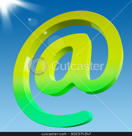 At Sign Shows Online Mailing Communication Icon stock photo, At Sign Showing Online Mailing Communication Icon by stuartmiles