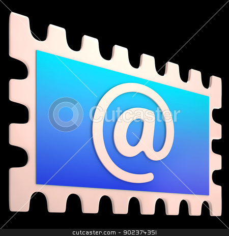 E-mail Stamp Shows Online Mailing Communication Post stock photo, E-mail Stamp Showing Online Mailing Communication Post by stuartmiles