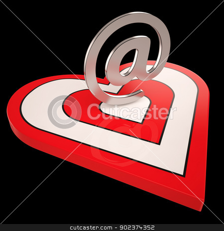 Heart E-mail Shows Valentines Electronic Letter Mail stock photo, Heart E-mail Showing Valentines Electronic Letter Mail by stuartmiles