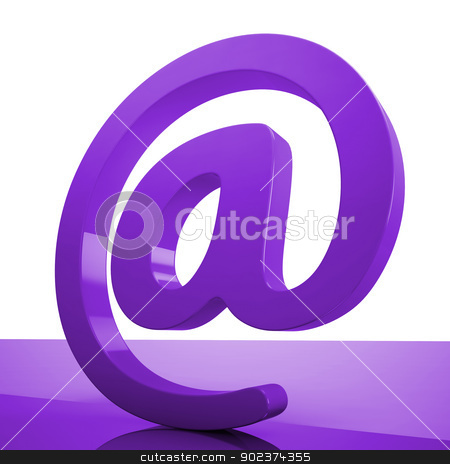 At Sign Means Online Mailing Communication Icon stock photo, At Sign Meaning Online Mailing Communication Icon by stuartmiles