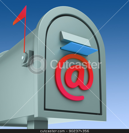E-mail Postbox Shows Sending And Receiving Mail stock photo, E-mail Postbox Showing Sending And Receiving Mail by stuartmiles