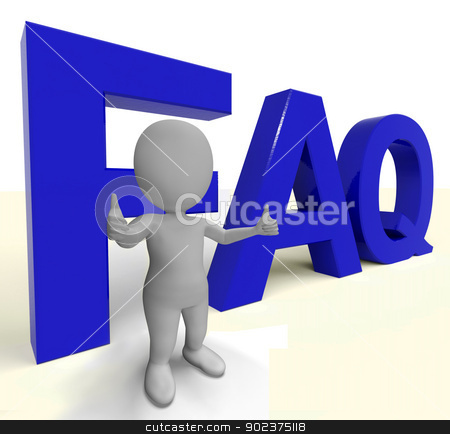 Faq Word As Sign For Information Or Assisting stock photo, Faq Word As Symbol For Information Or Assisting by stuartmiles