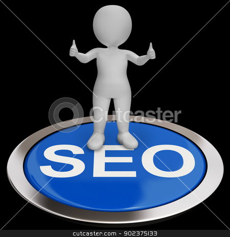 SEO Button Shows Internet Marketing And Optimizing stock photo, SEO Button Showing Internet Marketing And Optimizing by stuartmiles