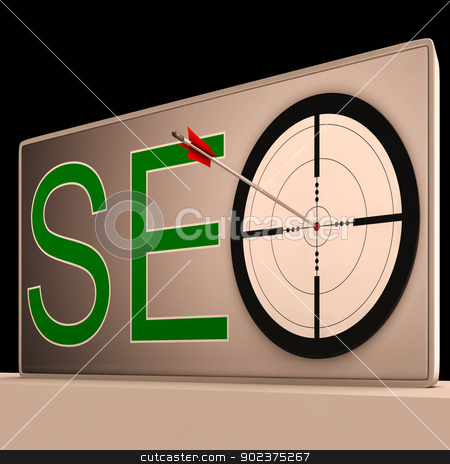 Seo Target Means Search Engine Optimization And Promotion stock photo, Seo Target Meaning Search Engine Optimization And Promotion by stuartmiles