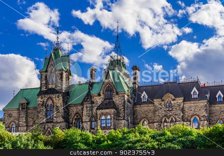 Parliament building in Ottawa stock photo, Parliament building in Ottawa on the Parliament Hill, Ontario, Canada by Peter Kolomatski
