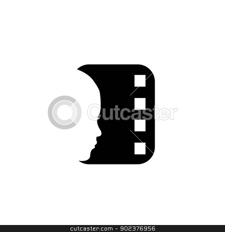 cinema logo stock vector clipart, 	cinema logo by DoReMe