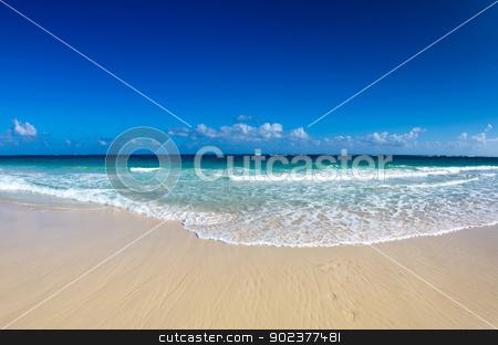 sea  stock photo, beautiful blue caribbean sea beach by Vitaliy Pakhnyushchyy