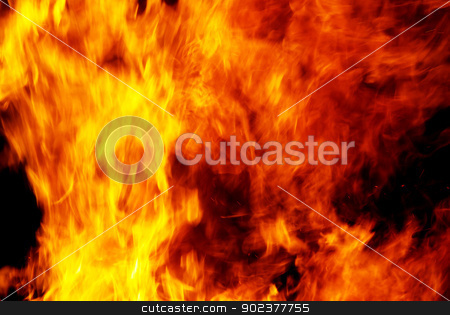 fire stock photo, Flame of fire in a night-time     by Vitaliy Pakhnyushchyy
