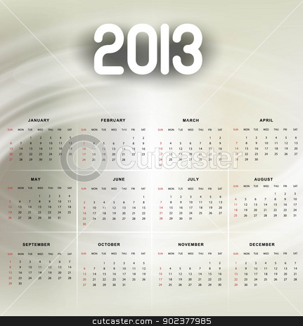 2013 calendar bright colorful shiny vector background stock vector clipart, 2013 calendar bright colorful shiny vector background by bharat pandey
