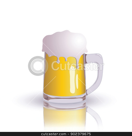 beer stock photo, colorful illustration with beer for your design by valeo5