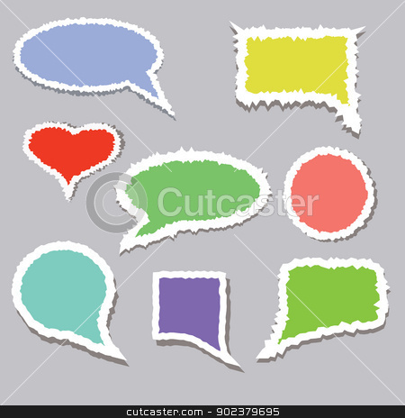 speech bubble stock photo, colorful illustration with speech bubble  for your design by valeo5