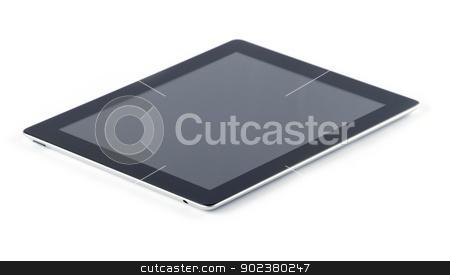 tablet computer  stock photo, tablet computer isolated on white by Vitaliy Pakhnyushchyy