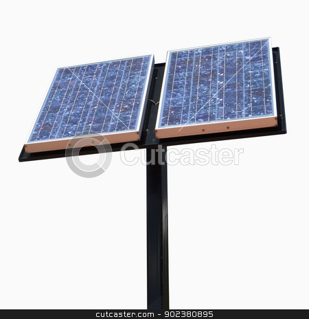 Solar Panel stock photo, Solar panel isolated on white, includes clipping path by Bryan Mullennix