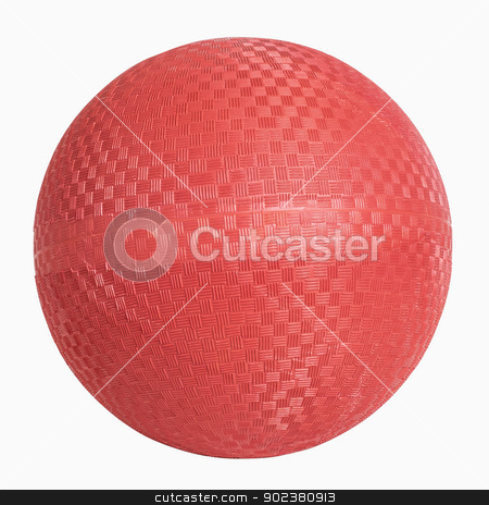 Red Rubber Wall Ball stock photo, Red rubber wall ball isolated on white, includes clipping path by Bryan Mullennix