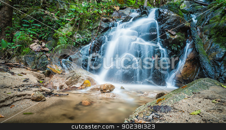 maekumpong waterfall in thailand stock photo, maekumpong waterfall in chiangmai of thailand by moggara12
