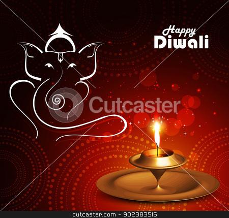 Beautiful Artistic colorful Hindu Lord Ganesha vector stock vector clipart, Beautiful Artistic colorful Hindu Lord Ganesha vector background by bharat pandey