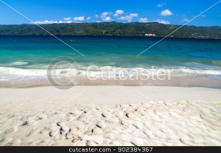 sea beach stock photo, beautiful blue caribbean sea beach by Vitaliy Pakhnyushchyy