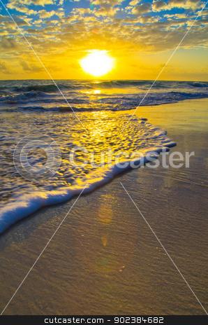 sunset  stock photo, Beautiful sunset above the sea by Vitaliy Pakhnyushchyy