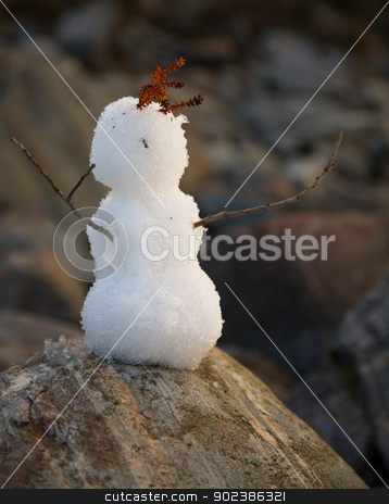 Primitive snowball stock photo, Primitive snowball for one minute by Alexey Romanov