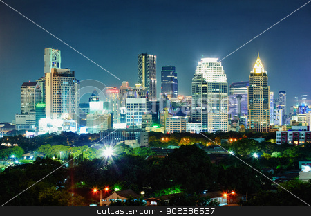 City at night. Thailand, Bangkok, the center. stock photo, Panorama of the city at night. Thailand, Bangkok, the center. by Alexey Romanov