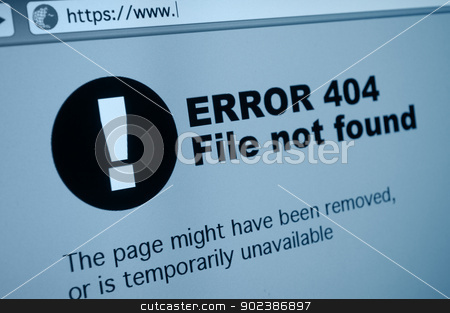 404 Error stock photo, Closeup of 404 Error Sign in Internet Browser on LCD Screen by JAMDesign