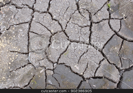 The cracked surface stock photo, The cracked surface of ground by Alexey Romanov