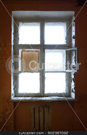 The closed old decayed window stock photo, The closed old decayed window by Alexey Romanov