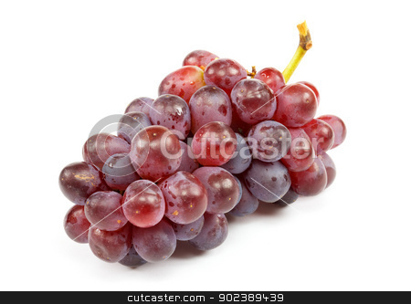 Cluster of ripe grapes stock photo, Cluster of ripe grapes on a white background by Alexey Romanov