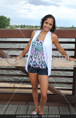 African american female beauty. stock photo, African american female beauty posing outside. by OSCAR Williams