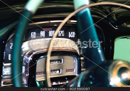 Classic car dashboard detail , shallow DOF stock photo, Classic car dashboard detail , shallow DOF photo by GPimages