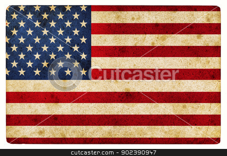 Grunge textured  illustration of  USA flag stock photo, Computer designed highly detailed grunge textured  illustration of  USA flag by GPimages