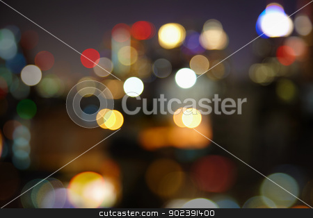Blurred night city lights stock photo, Blurred night city lights - abstract landscape by Alexey Romanov