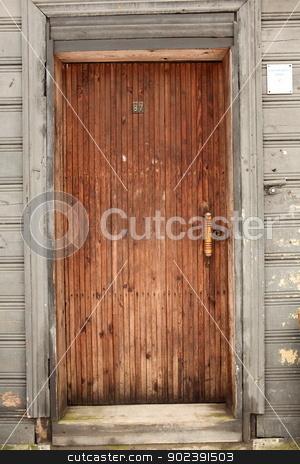 door  stock photo, the old entrance wooden door  by mrivserg