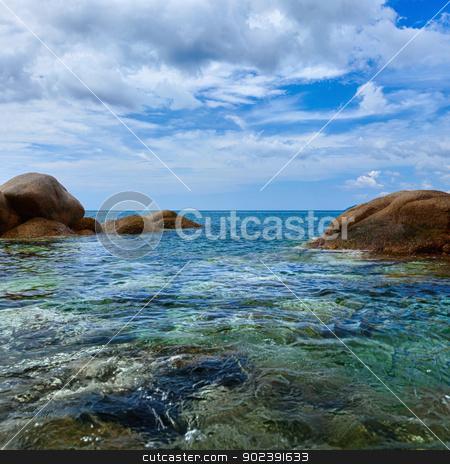Tropical ocean coast. Thailand, Phuket, Karon. stock photo, The tropical ocean coast. Square landscape. Thailand, Phuket, Karon. by Alexey Romanov