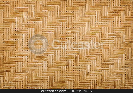Background - bamboo weaving stock photo, Background - bamboo old weaving mat by Alexey Romanov