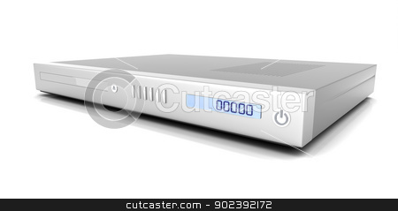 DVD Player stock photo, 3D rendered Illustration. Isolated on white. by Michael Osterrieder