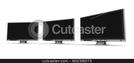 HDTV line stock photo, 3D rendered Illustration.  by Michael Osterrieder