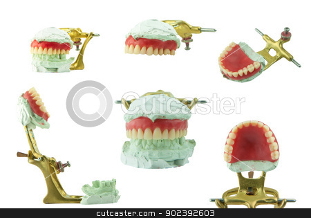 Upper denture wax model  set stock photo, Upper denture wax model  set by Bunwit