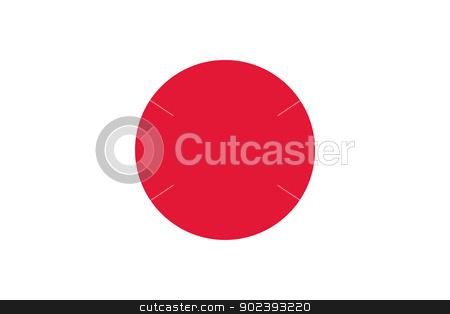 Japan flag stock vector clipart, Vector Japan flag by Oxygen64