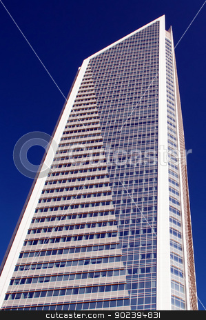 tall highrise building stock photo, modern glass and concrete structure of skyscraper by digidreamgrafix.com