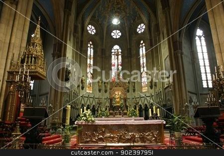 Altar in Zagreb cathedral stock photo, Altar in Zagreb cathedral by Zvonimir Atletic