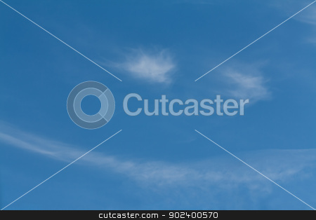 White cloud in the sky with the shape of a smile stock photo, white fluffy clouds in the form of a smile on blue sky by Ruslan Kudrin