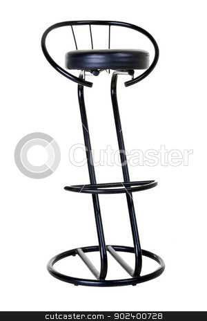 bar stool stock photo, bar stool on an isolated white background by Ruslan Kudrin