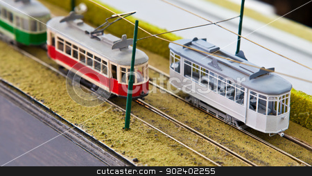 Train model stock photo, Detail of trains models: concept of collection by Paolo Gallo