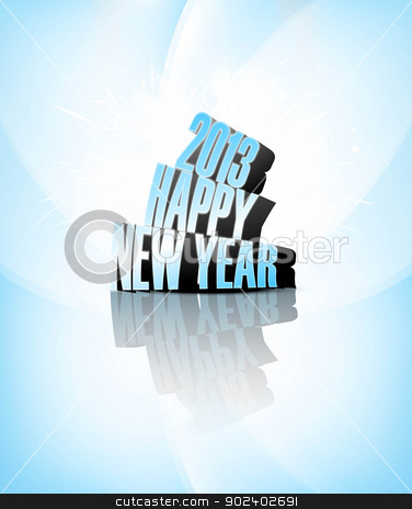 2013 Happy new year blue colorful celebration vector background stock vector clipart, 2013 Happy new year blue colorful celebration vector background by bharat pandey