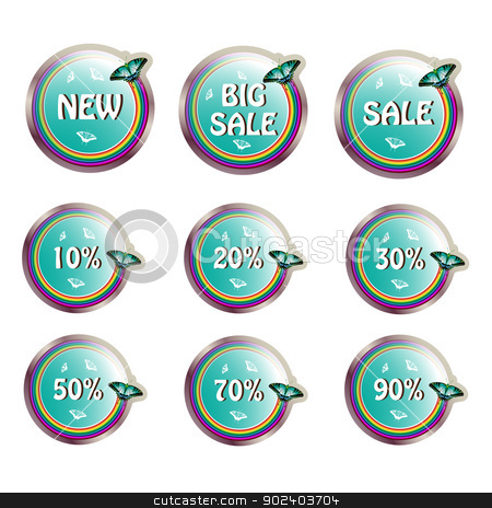 Labels stock vector clipart, Labels for sale   by Merlinul